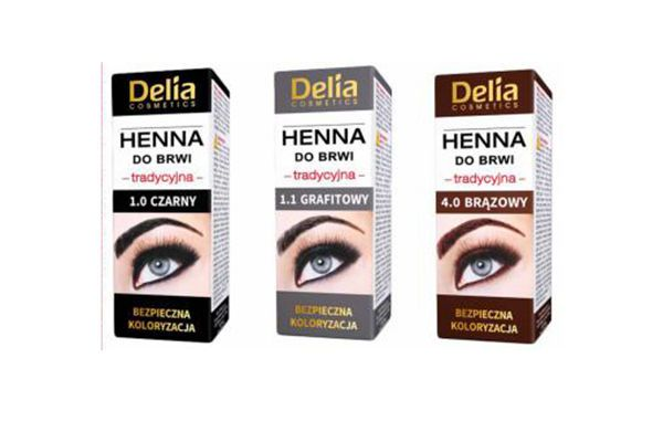 2 X Delia Henna Traditional For Eyebrows Tint Brown Black Graphit