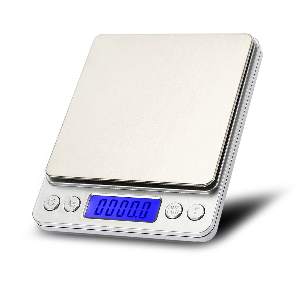 Details about 3Kg x 0.1g Slim Digital Kitchen Scale Stainless Steel 6.6lb x  0.003oz Food /Mail