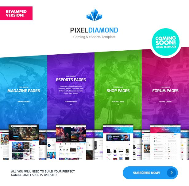 The Alchemists - Sports News PSD Template V4.0 + eSports & Gaming - 9