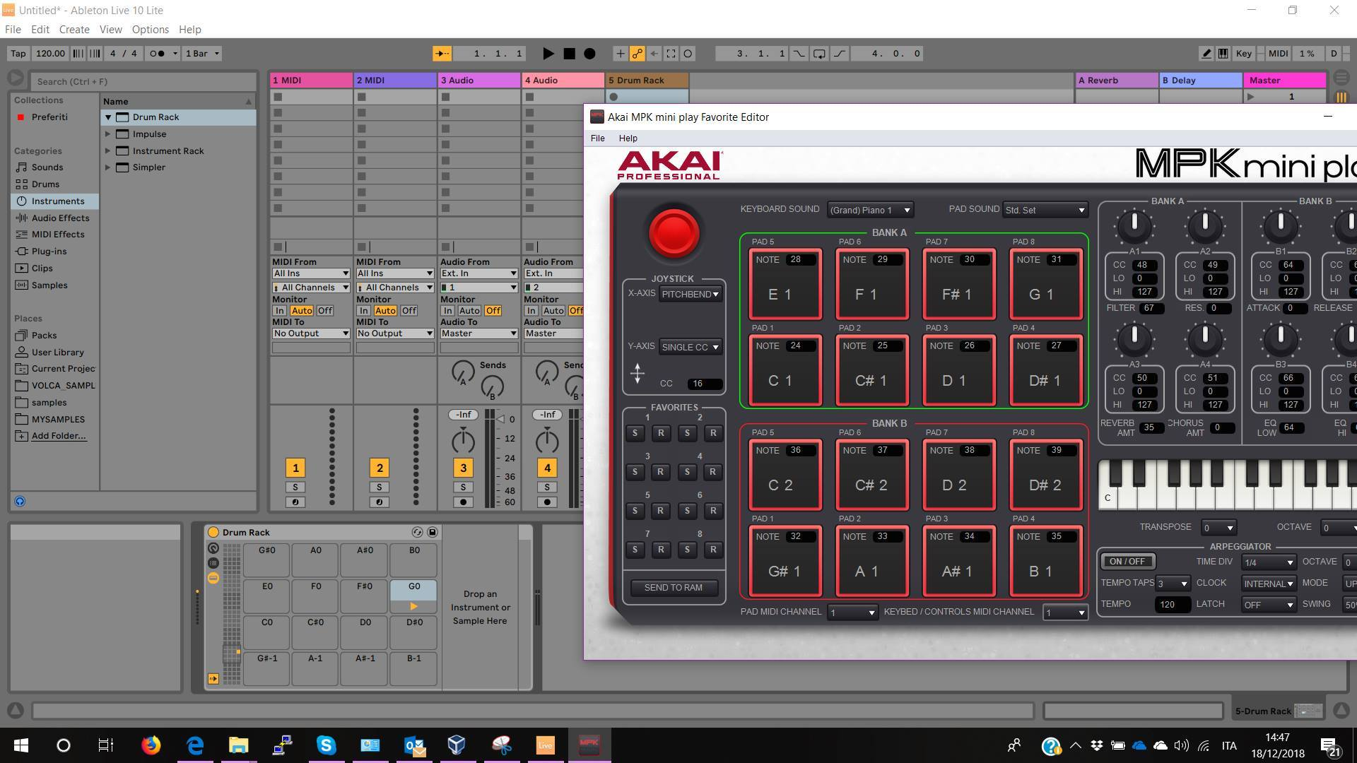 Different notes using Akai MPK Mini Play - Ableton Forum