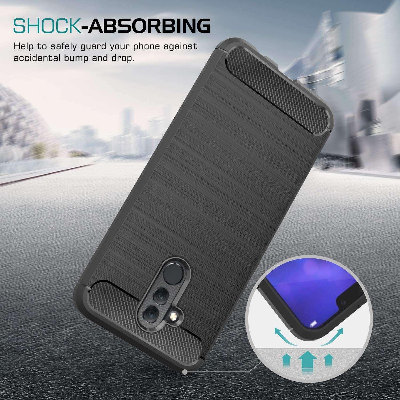 Coque-Etui-Housse-Silicone-brossee-Fibre-de-carbone-Noir-Protection-Huawei miniature 24