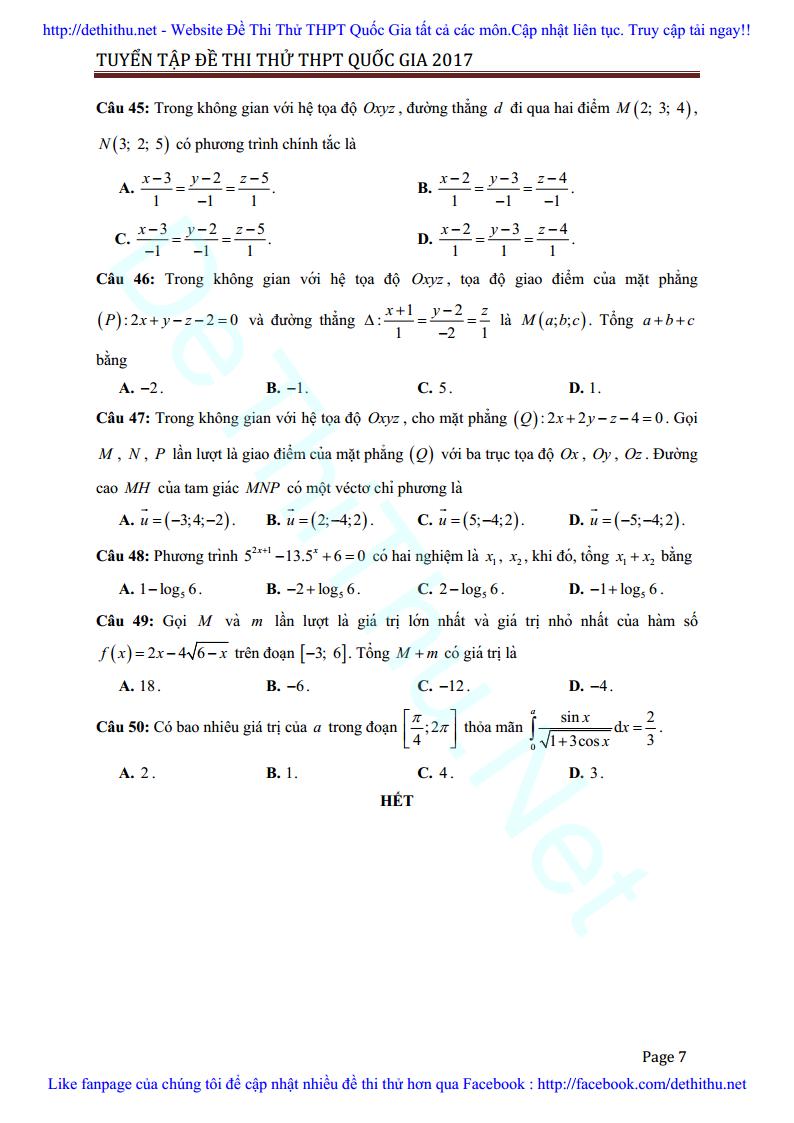 De thi thu Toan 2017 THPT Ngo Gia Tu, Vinh Phuc lan 3 giai chi tiet trang 7