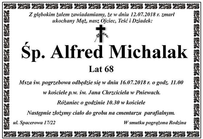 Żyli wśród nas – Alfred Michalak
