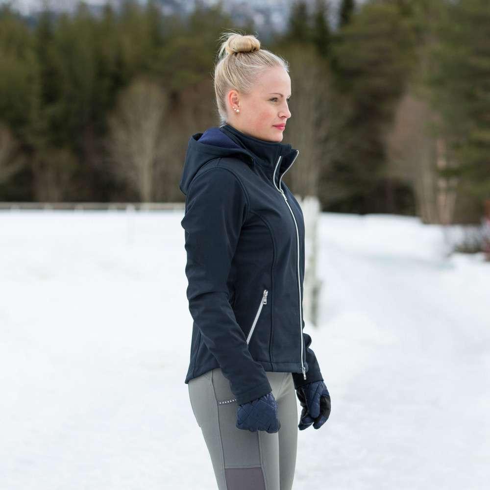 Horze Fredrica Breathable Waterproof Women/'s Short Soft Shell Jacket