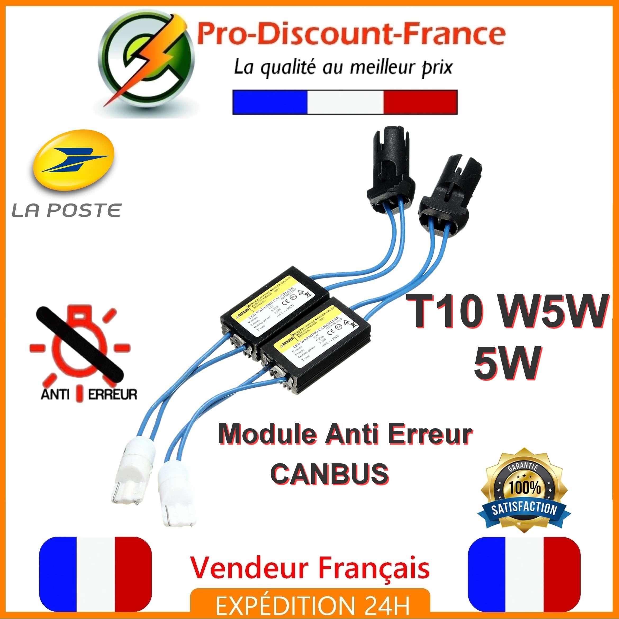 5w Canbus Anti Obd W5w Détails T10 Modules Sur Résistance Ampoules Module X Erreur 2 Led UVpMSzqG