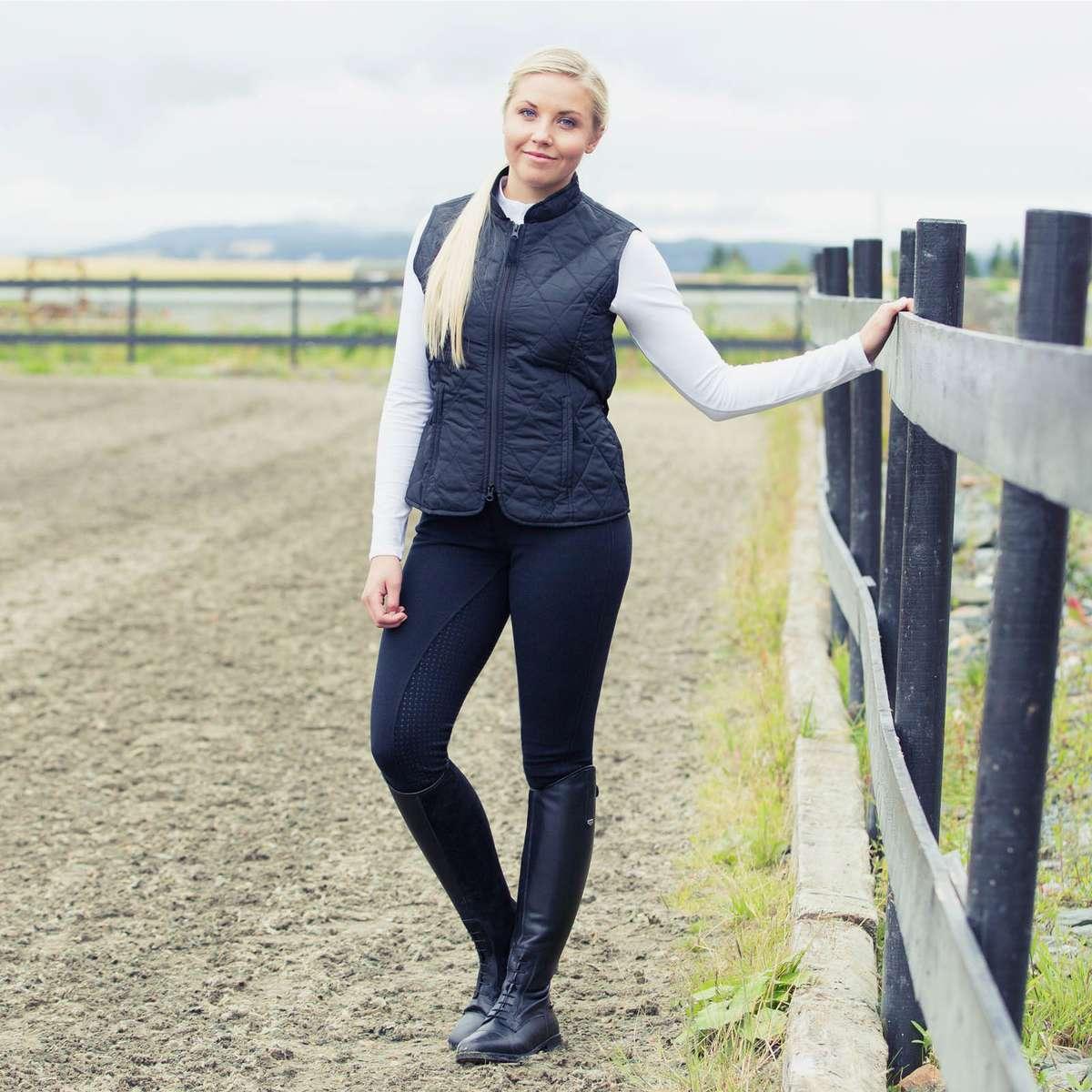 Horze-Women-039-s-Active-Silicone-Grip-Full-Seat-Riding-Breeches-Elastic-Leg-Bottoms thumbnail 34