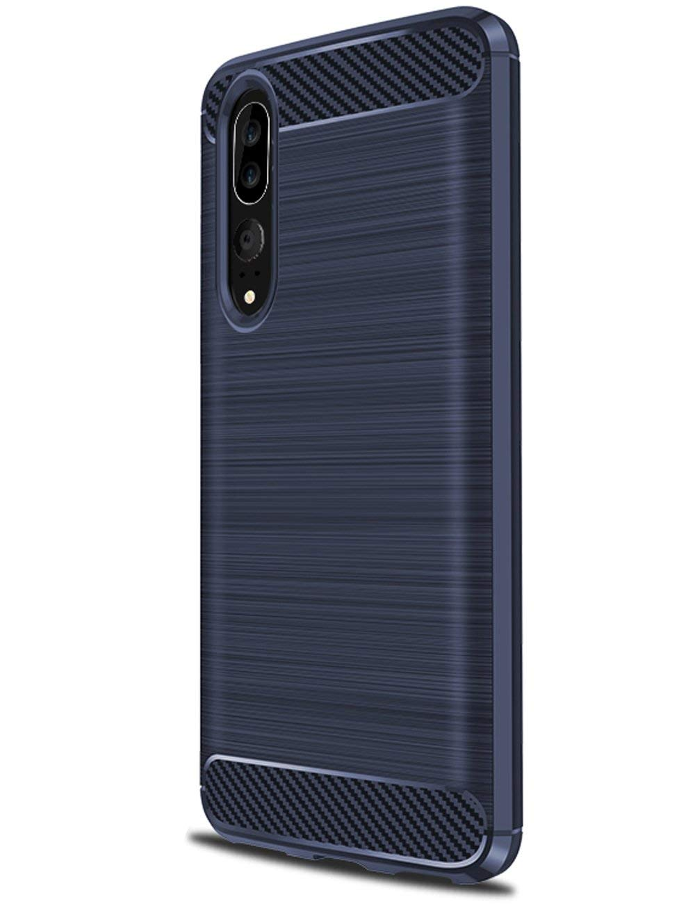Coque-Etui-Housse-Silicone-brossee-Fibre-de-carbone-Noir-Protection-Huawei miniature 4