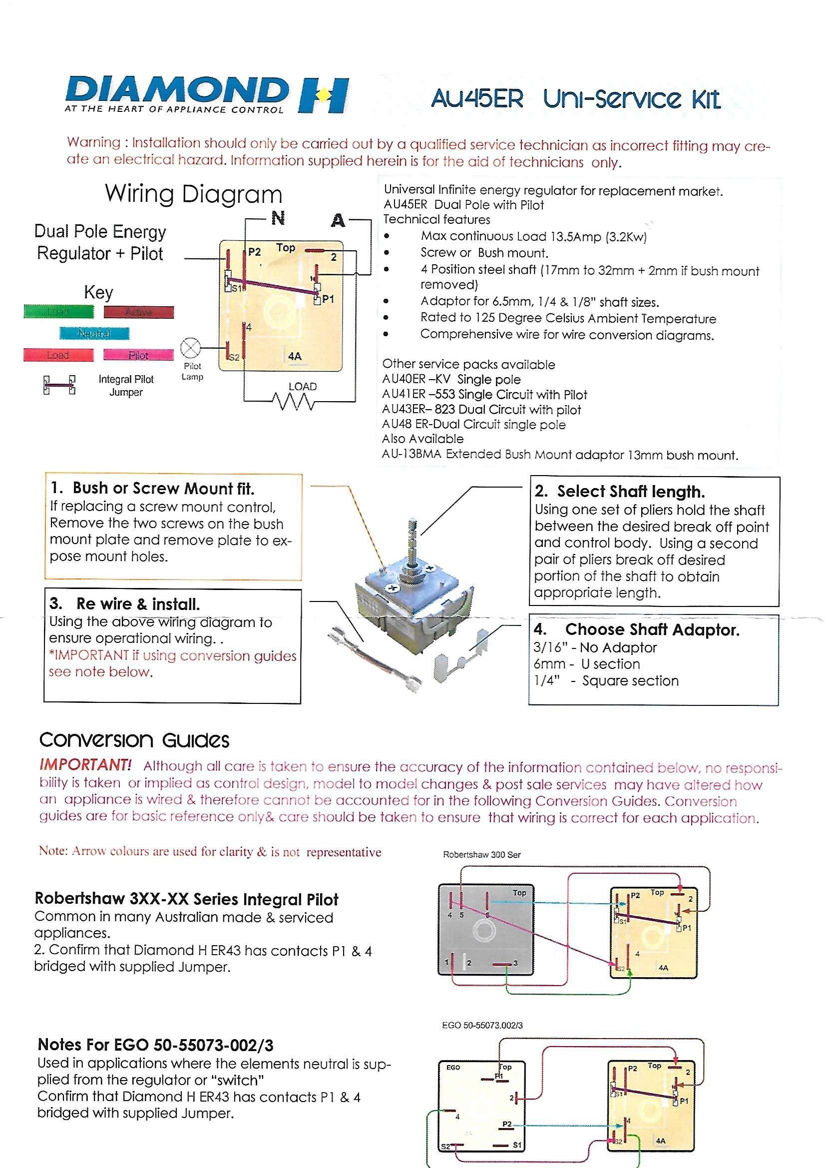 Details About Universal Double Pole Hotplate Simmerstat Control Part No 45er K Au45er