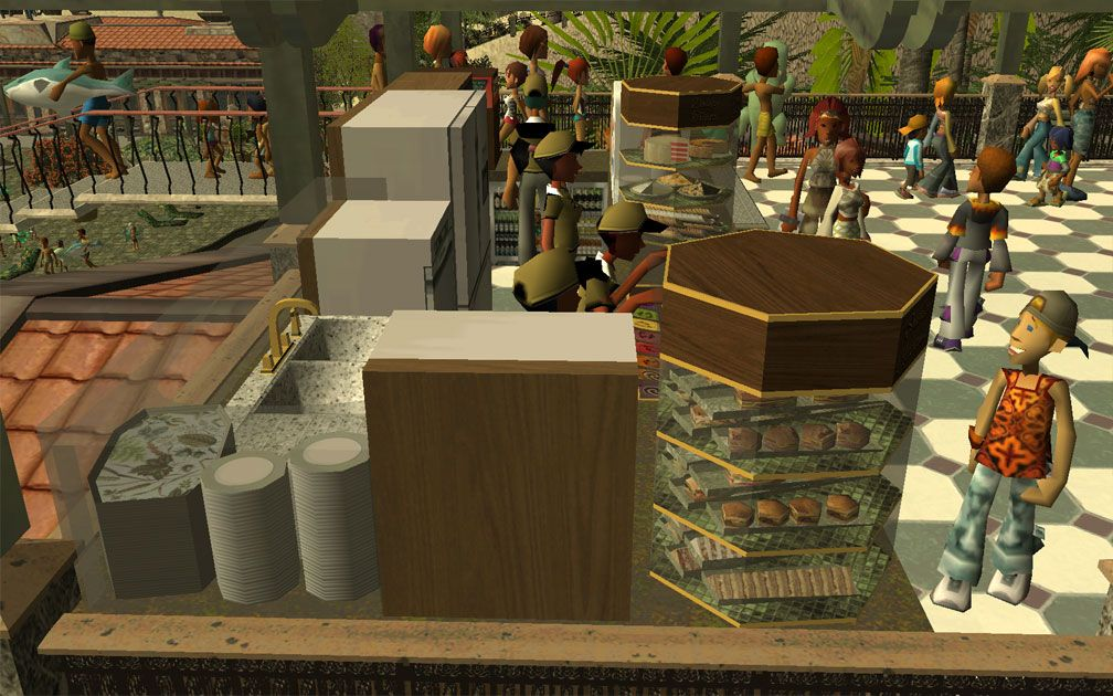 My Projects - CSO's I Have Imported, Café: Update 1 - Café Scene (Towards North) Displaying Well Equipped Vendors' Work Area, Image 04