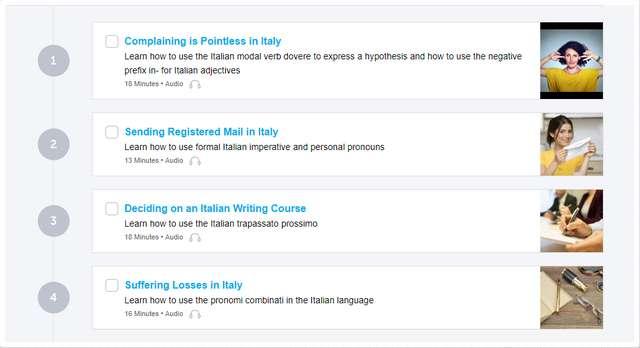 ItalianPod101 Lessons