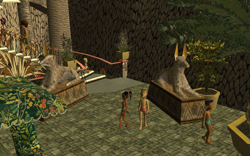 My Projects - CSO's I Have Imported, Landscaping and Park Grounds - Anubis On Pool Decking At Entrance of Pool Complex Body Slide, Image 08