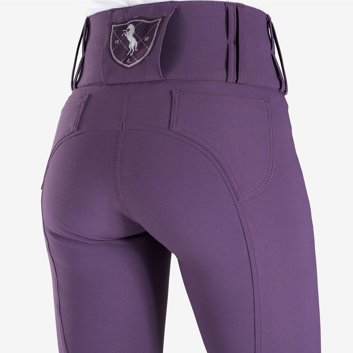 Horze-Desiree-Women-039-s-Knee-Patch-Riding-Breeches-with-High-Waist-and-Bi-Stretch thumbnail 13