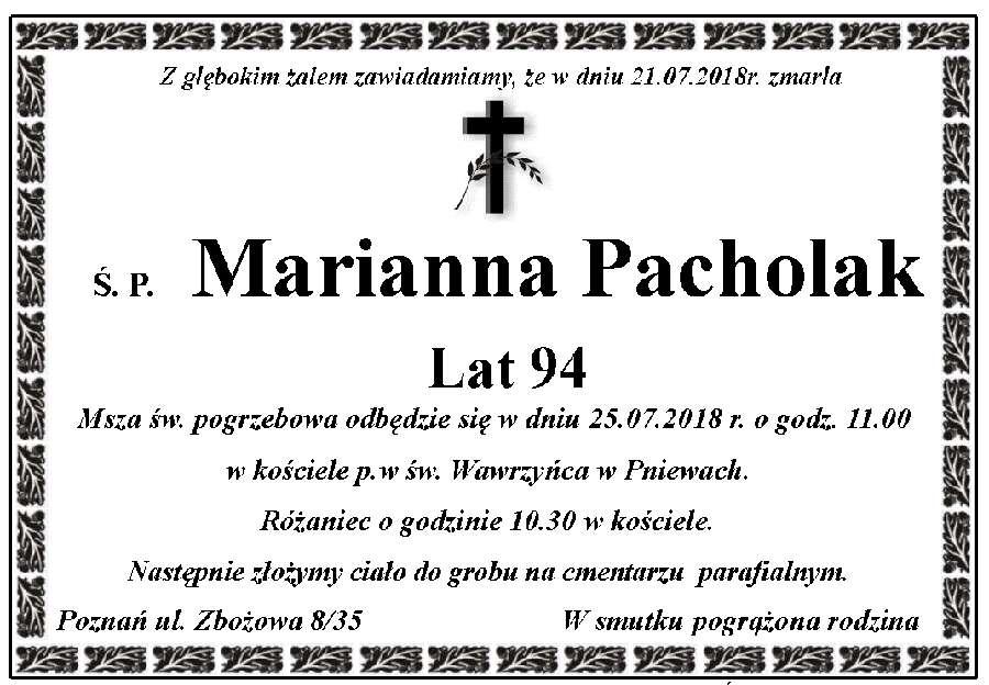Żyli wśród nas – Marianna Pacholak