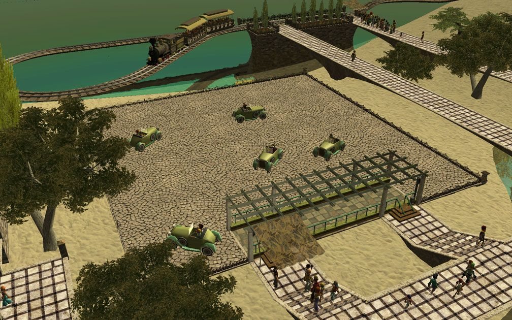 My Projects - CSO's I Have Imported, Pergolas Set - Aerial View of Roadster-Rama Station Showing Pergolas Arrangement, Image 07