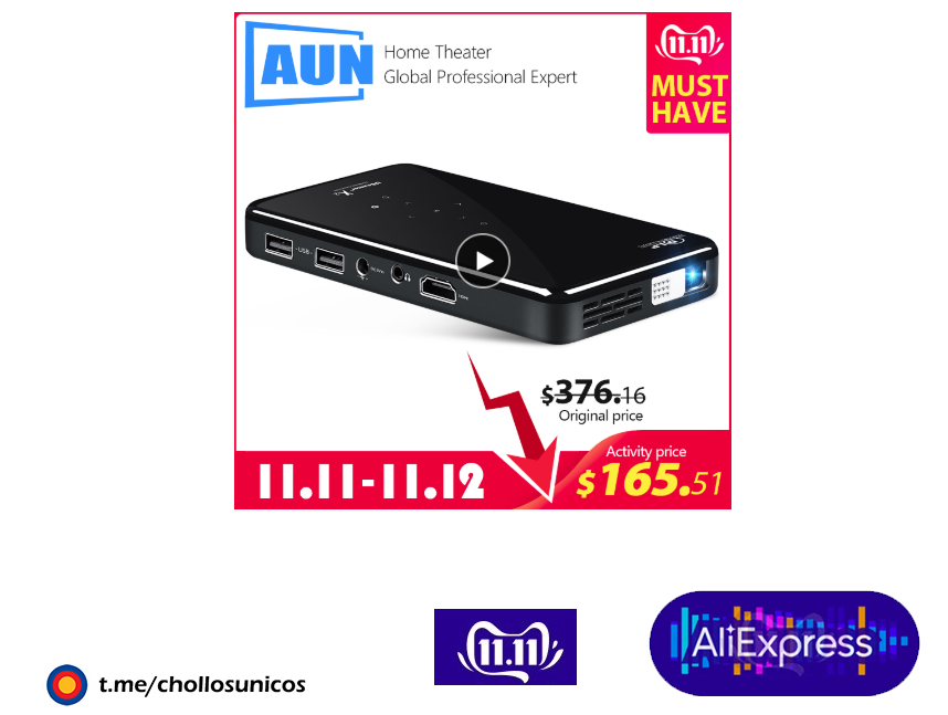 AUN MINI proyector X2 Android 7.1