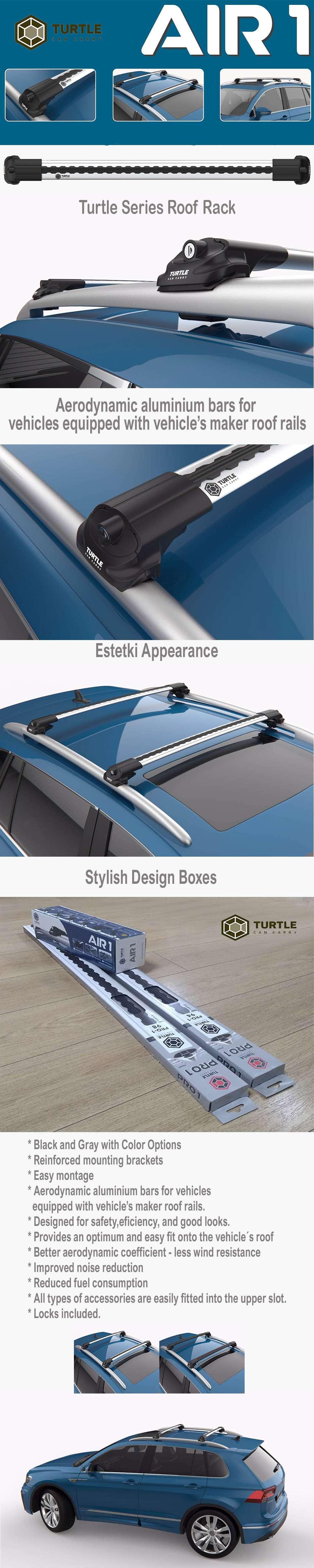 Lockable AeroWingBar Roof Rack Cross Bar Set Fits Audi A6 C7 Allroad Quattro