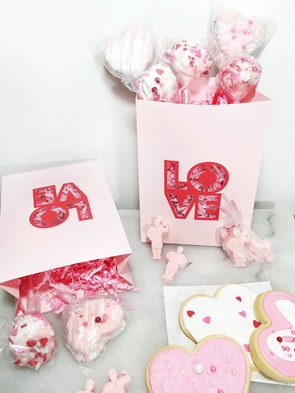 Galentine's Day Sweet Treat Bags with Michaels