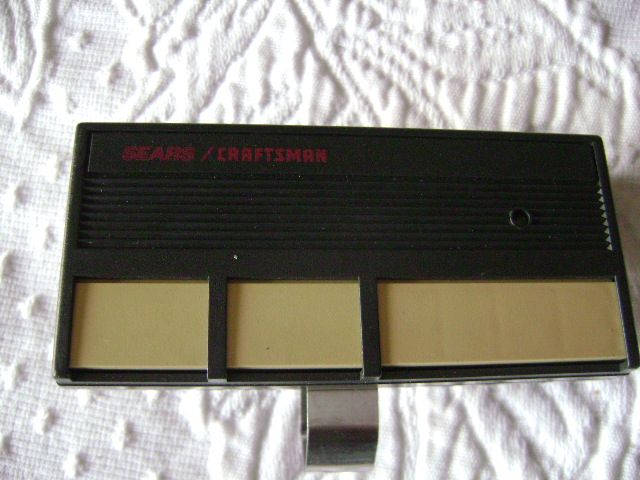 Sears Craftsman 3 Button Garage Door Amp Gate Visor Remote