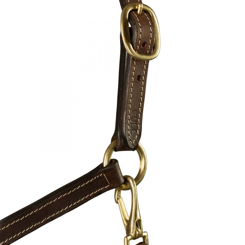 Horze-Fremont-Economical-Leather-Halter-with-Adjustable-Nose-and-Throat-Snap thumbnail 6