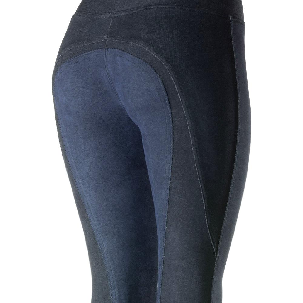 Horze Women/'s Active Full Seat Summer Riding Tights Pull-On Soft Cotton Blend