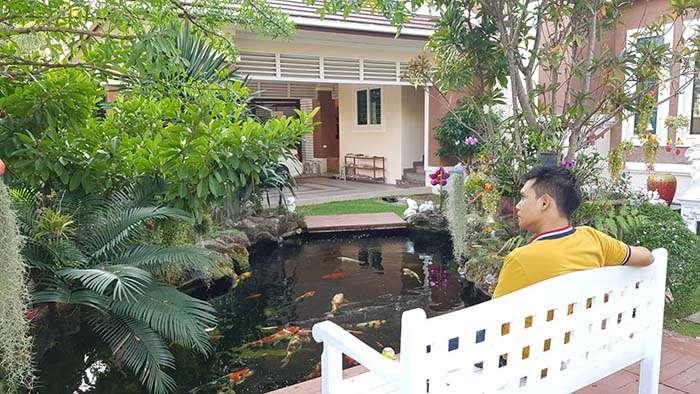 รับจัดทำสวนน้ำตก ในบ้าน บ่อปลาคาร์ฟ ระบบกรอง  สวนน้ำตกข้าง...