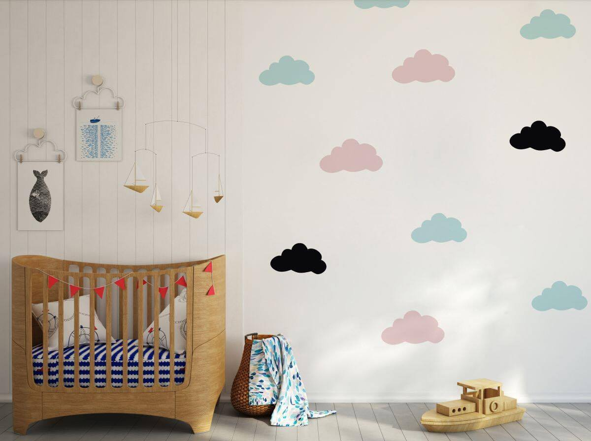 Wall Stickers Sweet Dreams Goodnight Love Nursery Art Décalques Vinyle Home Room