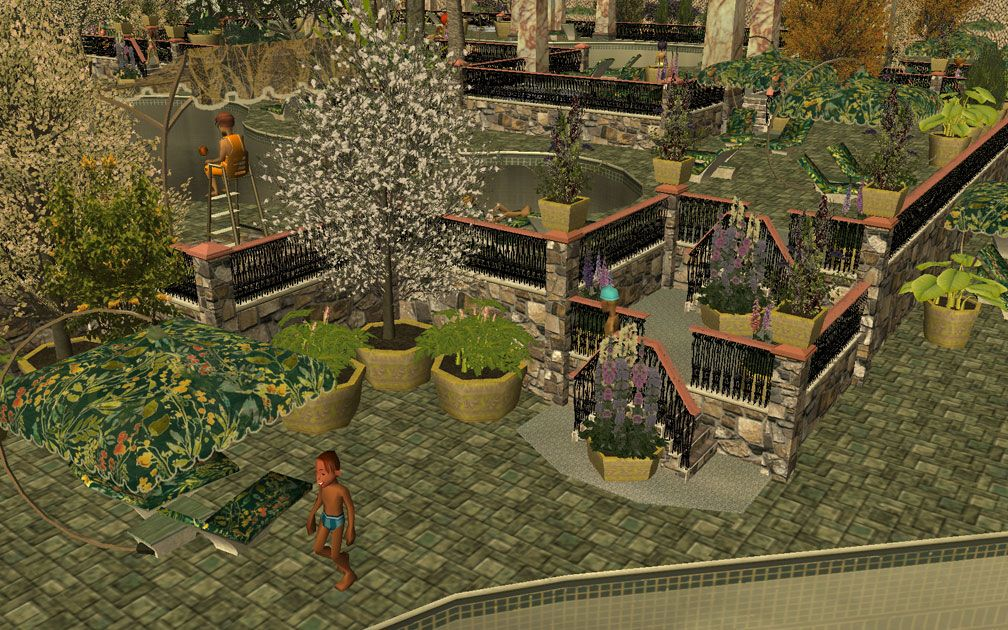 My Projects - CSO's I Have Imported, Planters And Pool Fencing - Screenshot Displaying Pool Decking Planters, Pool Stairs With Accessories, and Several Levels of Pool Complex Decking, Image 06