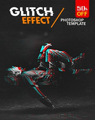 Animated Glitch Text - Logo -Image  Photoshop Template - 9