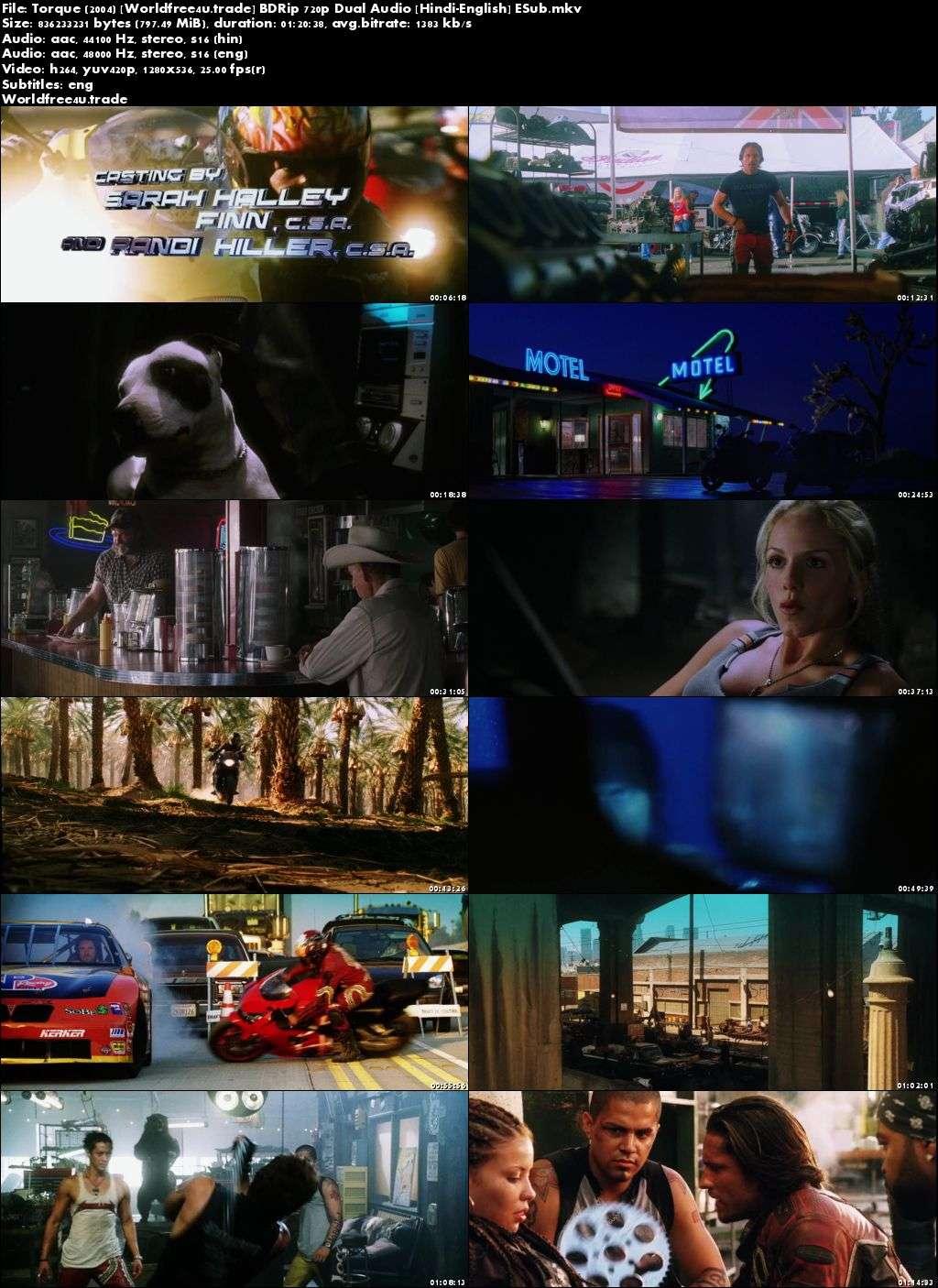 Screen Shots Torque 2004 Full HD Movie Download Dual Audio Hindi 720p