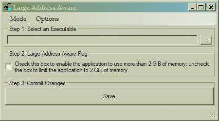 Large Address Aware Image of Splash Screen