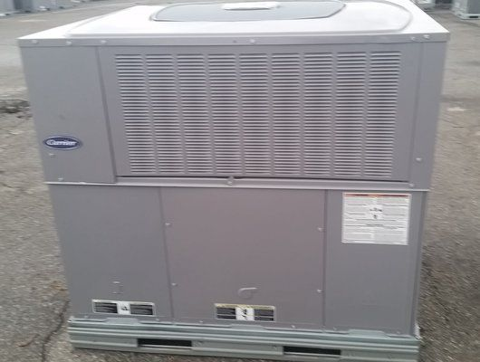 15 seer carrier 3 ton gas package unit with puron r410a single phase ebay. Black Bedroom Furniture Sets. Home Design Ideas