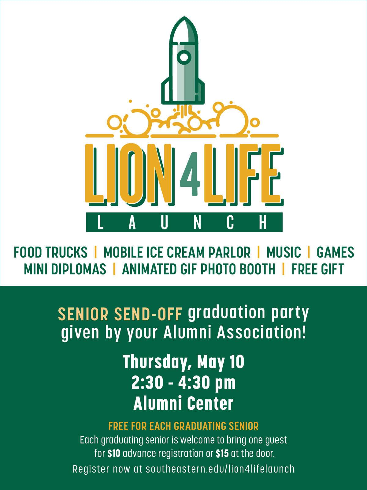 Lion4Life Launch Party (formerly Senior Send-Off