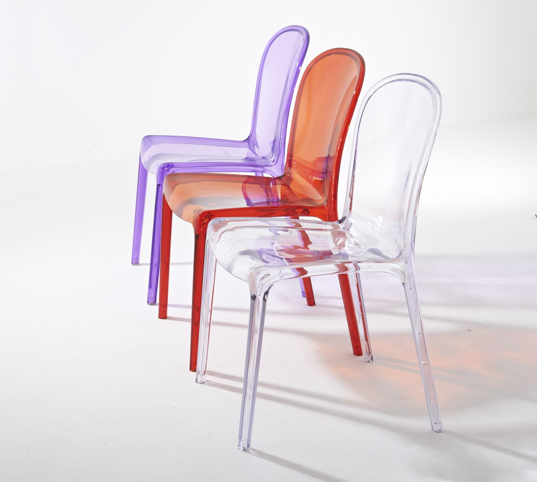 Sedia policarbonato trasparente replica thalysse kartell for Replica sedie design
