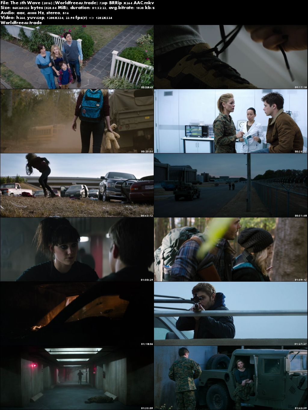 Screen Shots The 5Th Wave 2016 Full HD Movie Download Free 720p