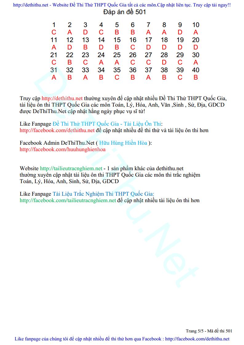 De thi thu mon Sinh Hoc 2017 so GD & DT Bac Ninh trang 5