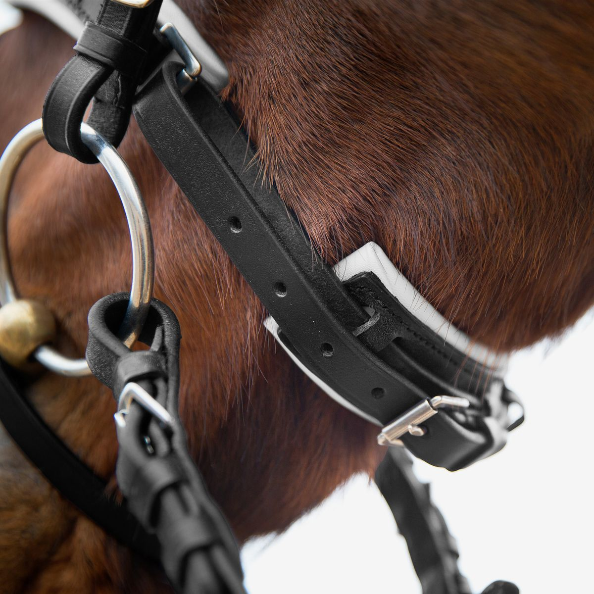 Horze-Rohan-Leather-Curved-Padded-Snaffle-Bridle-with-Rhinestone-Browband miniature 19