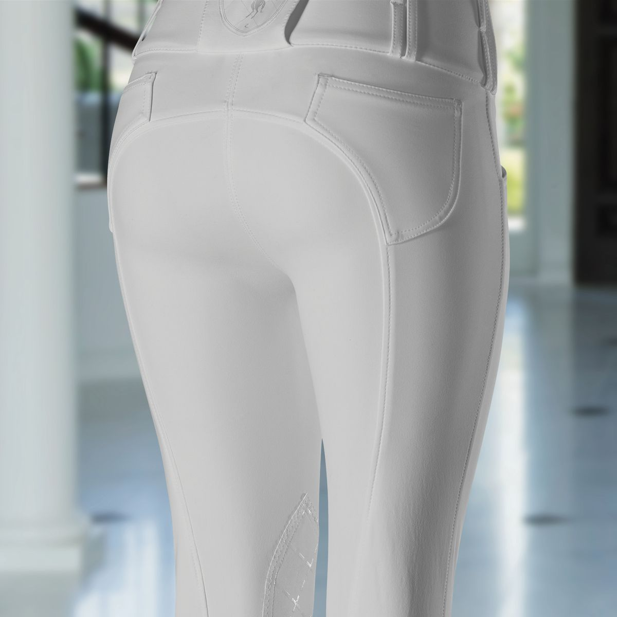 Horze-Desiree-Women-039-s-Knee-Patch-Riding-Breeches-with-High-Waist-and-Bi-Stretch thumbnail 28