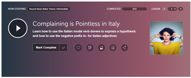 ItalianPod101 Intermediate Lesson
