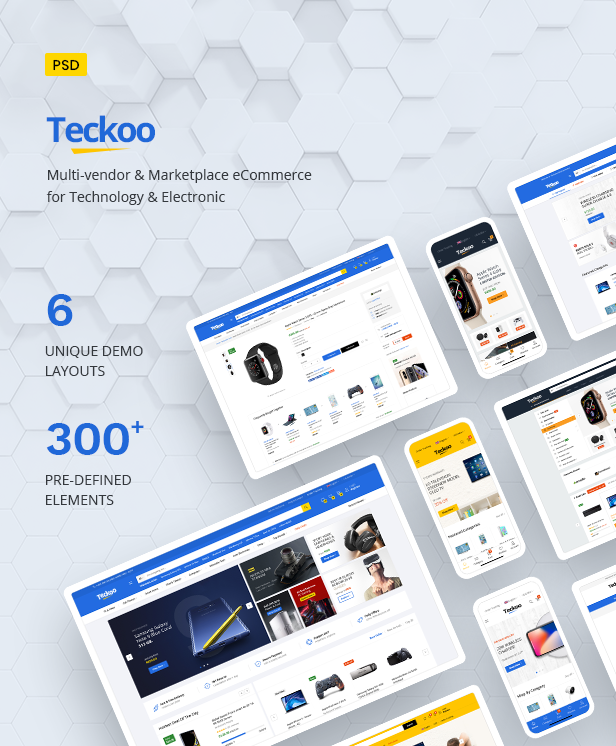 Teckoo - Electronic & Technology Marketplace eCommerce PSD Template - 4