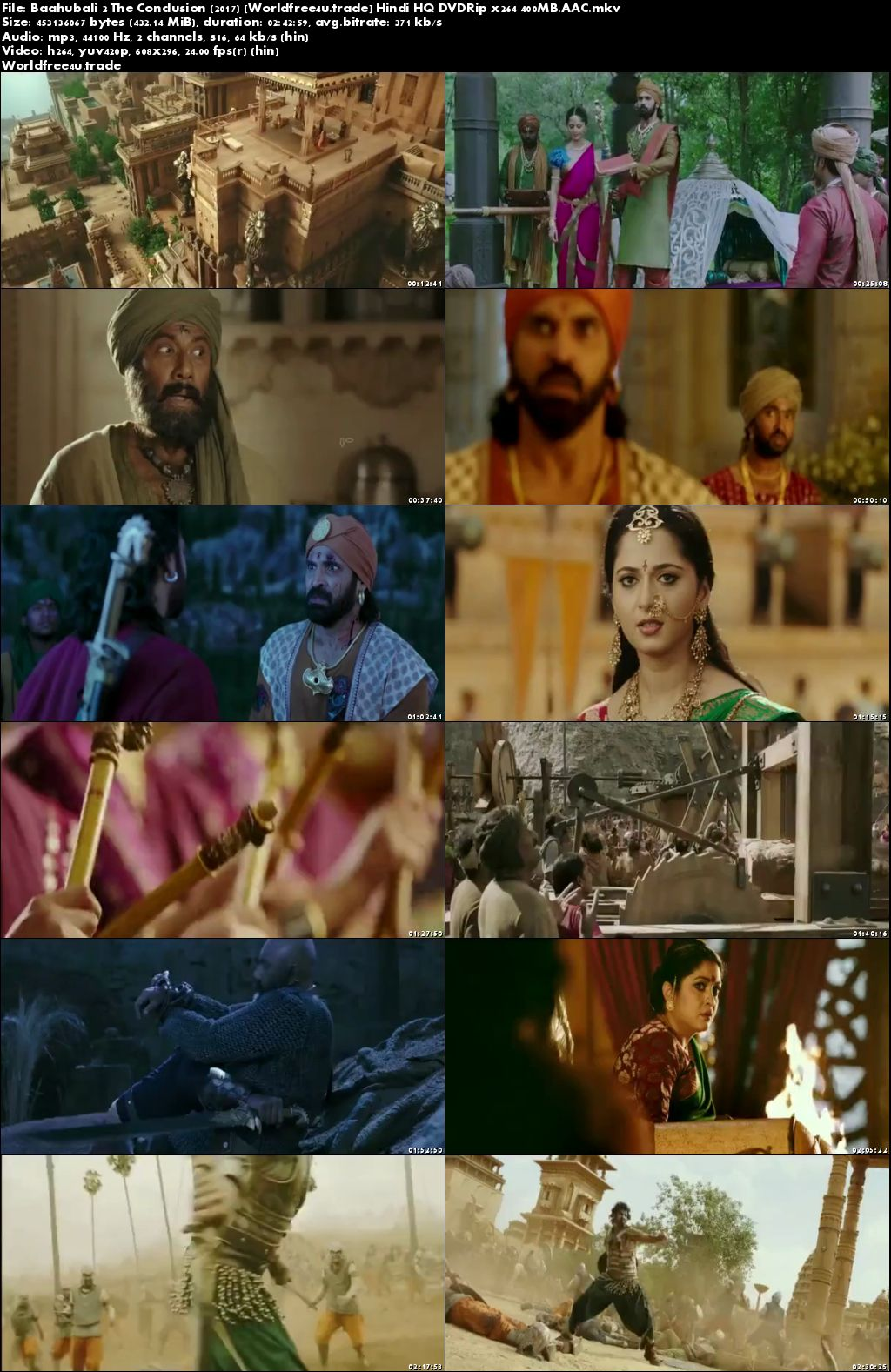 Screen Shots Baahubali 2 (2017) Full HD Movie Download Hindi Dubbed 400MB