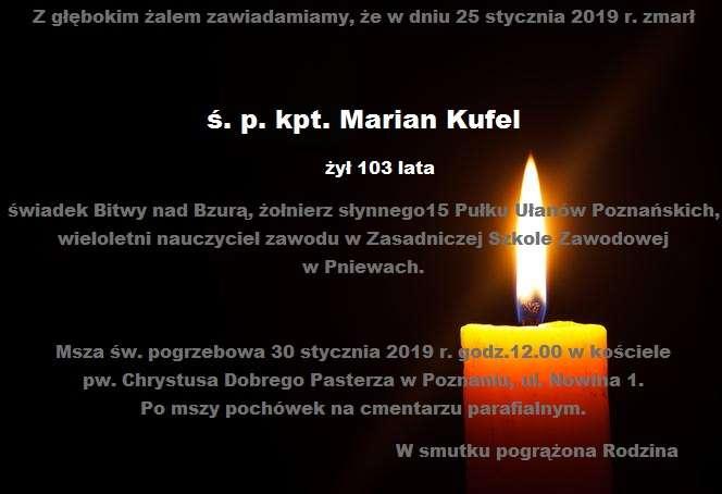 Żyli wśród nas – kpt. Marian Kufel
