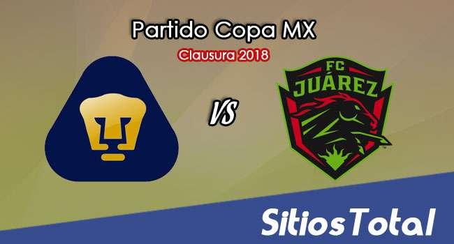Pumas vs FC Juarez en Vivo – Copa MX – Miércoles 24 de Enero del 2018