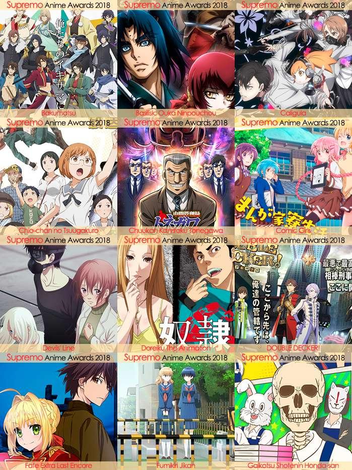 Eliminatorias Nominados a Mejor Anime Seinen 2018