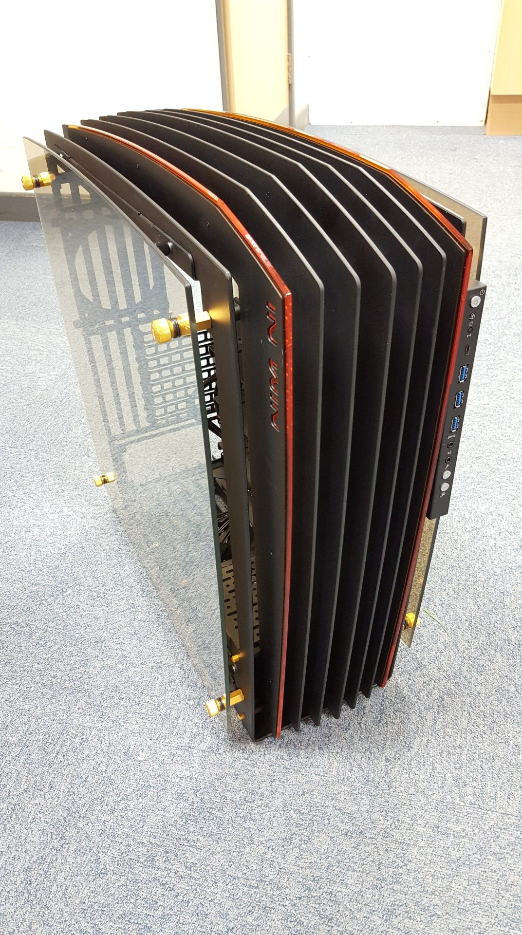 In Win H Frame 2.0 Open Air Chassis PC Case   Black/Amber