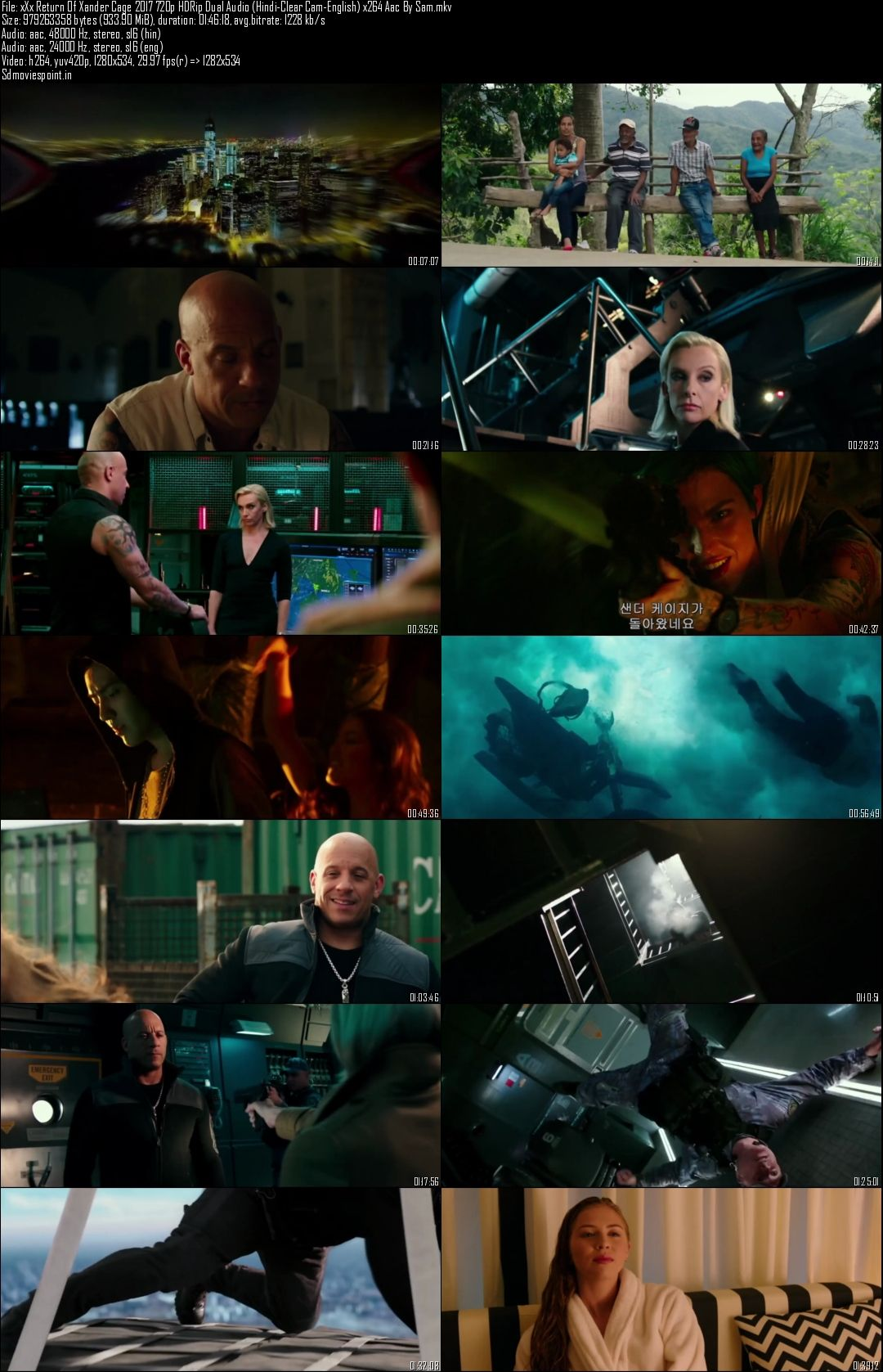 Screen Shots xXx Return of Xander Cage 2017 Full HD Movie Download in Hindi 720p