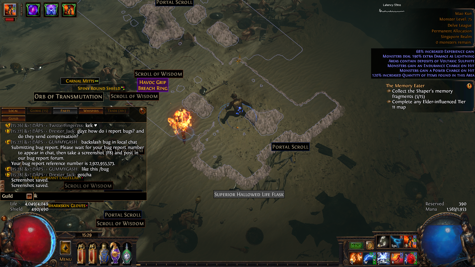 forum bug reports mao kun map bugged path of exile