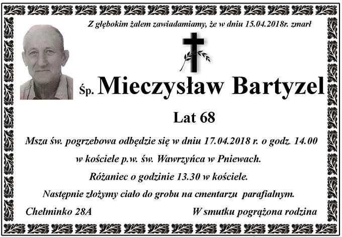 Żyli wśród nas – Mieczysław Bartyzel