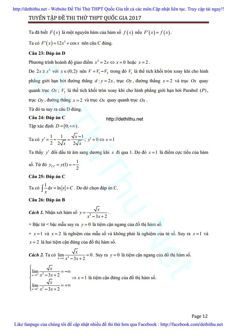 De thi thu Toan 2017 THPT Ngo Gia Tu, Vinh Phuc lan 3 giai chi tiet trang 12