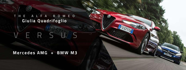 Alfa Romeo Giulia Quadrifoglio vs Mercedes AMG vs BMW M3 Comparison