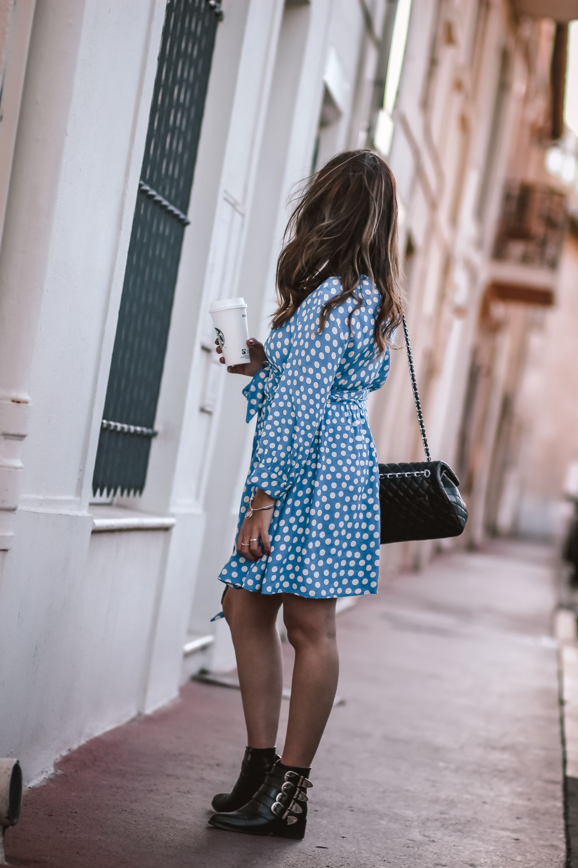 the green ananas, blog mode, zara, polka dot dress, blazer femme, blazer loose, robe pois, tularosa, pinterest, instagram, blog, and other stories, from cannes with love